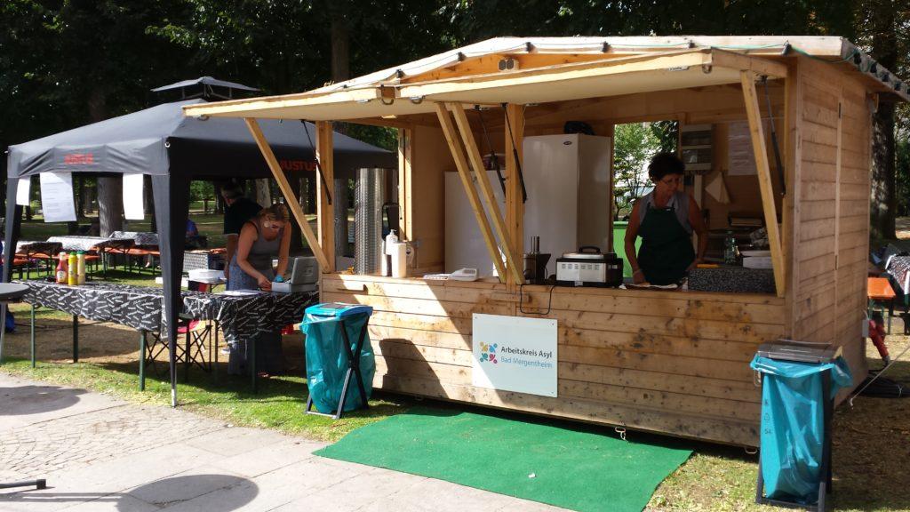 """The hut on """"Taubertäler Weindorf"""" 2018"""